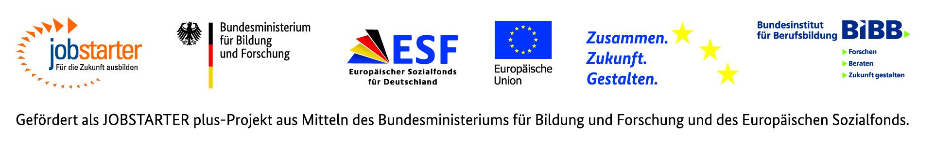 Geförert als JOBSTARTER plus-Projekt aus Mitteln des Bundesministeriums für Bildung und Forschung und des Europäischen Sozialfonds