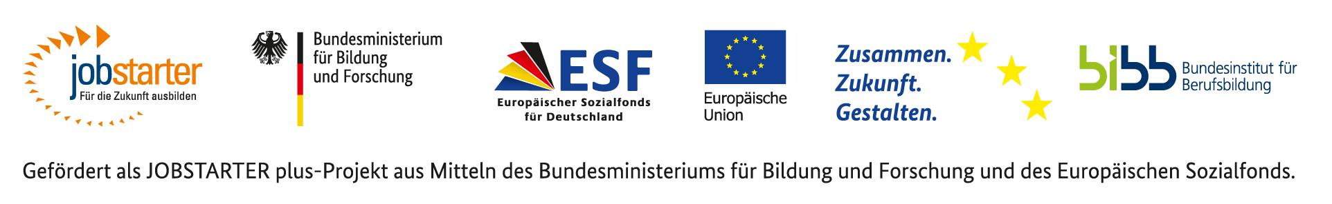 Gefördert als JOBSTARTER plus-Projekt aus Mitteln des Bundesministeriums für Bildung und Forschung und des Europäischen Sozialfonds.