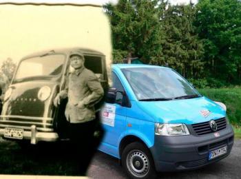 Gegenüberstellung zweier Fotos Vergangenheit und Heute