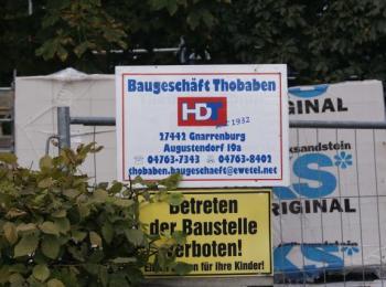 Bauschild Fa. Thobaben