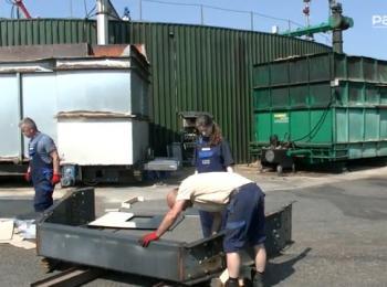 Arbeit an der Biogasanlage