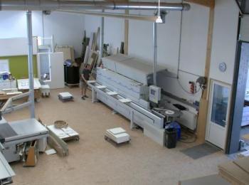 Werkstatt Halle von innen