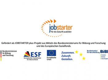 Logos des ESF- Jobstarter Projektes