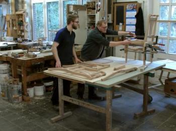 Mitarbeiter in der Werkstatt